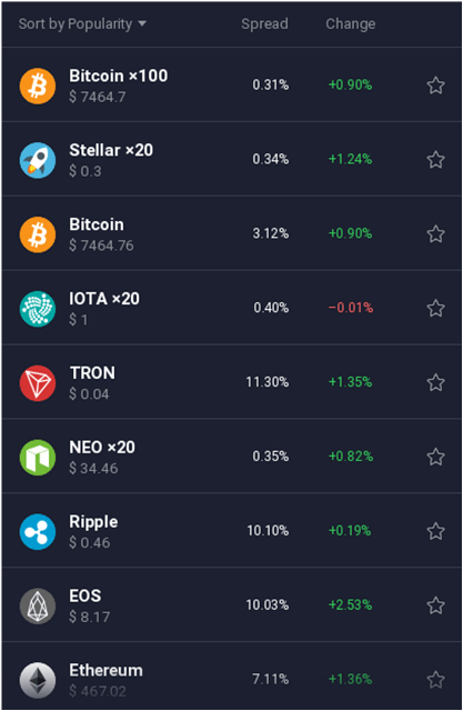 IQ cryptocurrencies trade1