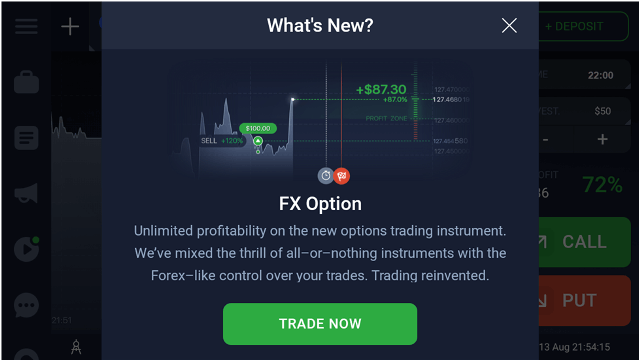 Fx binary touch options